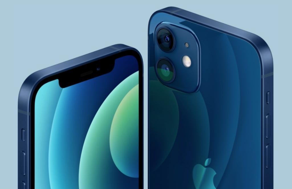 de nieuwe iPhone 12 blauw